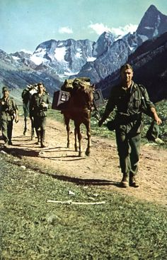 Carriage of ammunition German mountain in the Caucasus