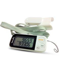 NAKOSITE Ruta Perfecta es un Podómetro en 3D con Correa y Fijador, Contador de Pasos Basado en Precisión, Calculadora de Distancia Corta (Kilómetros y Millas), Monitorización de Calorías Quemadas, Modo Ejercicio, Rastreador de Rendimiento Diario, Memoria Diaria de 30 Días, Dispositivo Construido con Tecnología Tri -Axis (Basada en Sensores), Acabado Blanco y Fácil Lectura Digital del Monitor - BONO: Libro Electrónico Gratis + 365 Días de Garantía. Nakosite…