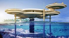 Photos: underwater hotel/casino concept for Great Barrier Reef
