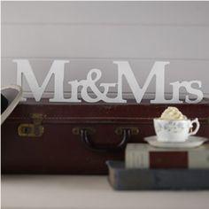 """Dekoaufsteller """"Mr & Mrs"""""""