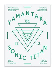 Yamantaka // Sonic Titan - Poster by Nathaniel Winter-Hébert, via Behance
