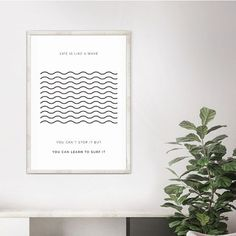 Life is like a wave. You can't stop it but you can learn to surf it ✌️️ Happy Monday . Scandi Home, Hygge Home, Learn To Surf, Stop It, Etsy Uk, Life Is Like, Kids Decor, Dream Big, Nursery Decor