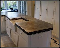 Amazing Zinc Countertops For Kitchen More Design http://ameliefairley.com/zinc-countertops-for-kitchen/