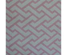 China Seas Aga Pink on White Fabric Remnant