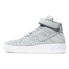 84903b1855c88f Nike Air Force 1 Mid Flyknit Grey  sneakers  sneakernews  StreetStyle   Kicks