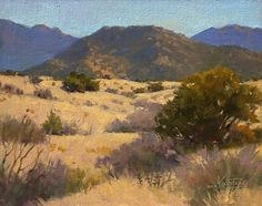 Ochre Fields at Bear Canyon by robert kuester Oil ~ 11 x 14