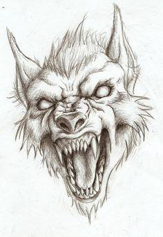 Ferocious werewolf by ArtisticDane