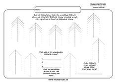 Stromy - grafomotorika - pracovné listy pre deti