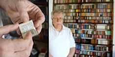 Jozsef Tari from Hungary has over 4500 miniature books in his collection.