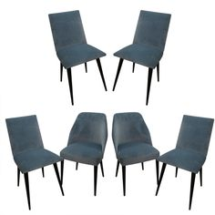 1stdibs | A Set of Six Mid-century Modern Dining Chairs