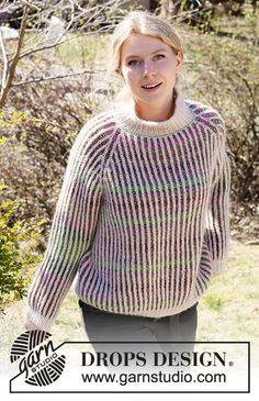 Knitting Stitches, Knitting Patterns Free, Free Knitting, Knit Patterns, Drops Design, Crochet Girls, Knit Crochet, Magazine Drops, Girls Sweaters
