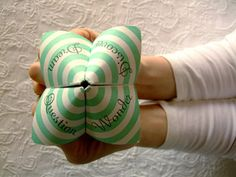 Cootie catchers and fortune tellers