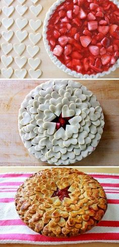 Amazing Pie Crust Designs That Will Blow Your Mind Super cute way to do pie crust!Super cute way to do pie crust! Pie Recipes, Sweet Recipes, Dessert Recipes, Cooking Recipes, Just Desserts, Delicious Desserts, Yummy Food, Pie Crust Designs, I Love Food