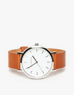 Silver/ Tan Band Watch Classic Bristol Lady // women's watch in silver and natural leather by The Horse for Need Supply Co.