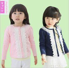 Baby girls Spring & Autumn Cardigan coat 100% cotton children clothing designer kids outerwear vintage vestido infantil conjunto