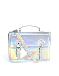ASOS Satchel Bag With Metal Buckles