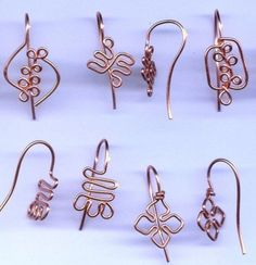 DIY Bijoux earwire variations this picture only