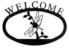 VWI WEL-71-L Dragonfly Welcome Sign LG Powder Metal Coated by Village Wrought Iron, http://www.amazon.com/dp/B000XD9XHU/ref=cm_sw_r_pi_dp_huVHrb1BDAV0T