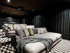 Home Theatre, Home Theater Room Design, Home Cinema Room, Home Theater Rooms, Game Room Design, Australian Interior Design, Soho, Home Cinemas, Interior Design Inspiration