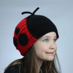 Ladybug Hat - Crochet Pattern (Earflap Style)