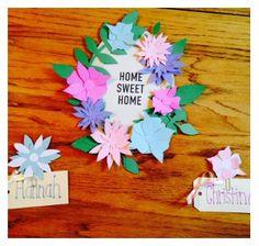 Flower Wreath Door Decs  sc 1 st  Pinterest & Door tags done! Now I just need the rest of the names! | Humor Me ... pezcame.com