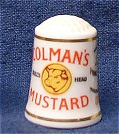 COLEMAN'S MUSTARD THIMBLE FRANKLIN MINT