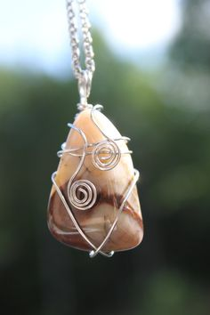 Voegesite Stainless Steel Wire Wrapped Healing by CrystalAffinity, $21.95