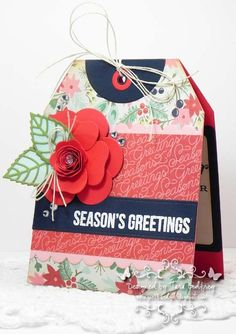 BasicGrey Challenges # 110...Farewell Challenge...Seasonal Tag cards.