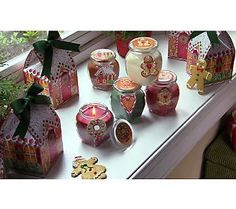 Set of 5 Sugar n Spice Candles with GiftBoxes  by Valerie - Designed with artwork by Gina Jane - for DAISIE Company.