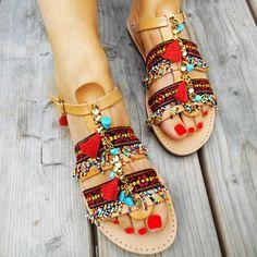 Sandales grecques bohèmes Ankle Strap Sandals  par SandalsofLove