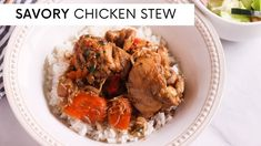 SAVORY CHICKEN STEW | STEWED CHICKEN | EASY RECIPE Stewed Chicken, Stew Chicken Recipe, Easy Chicken Recipes, Caribbean Recipes, Caribbean Food, Chicken Patties, Curry, Easy Meals, Lunch