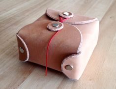 When u need a leather box: Natural+Veg+Leather+Box++Big+by+OryxandCrakeDesign+on+Etsy,+$36.00