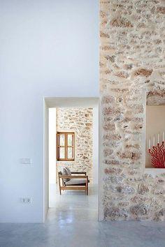 Casa payesa en Formentera, con suelos de cemento