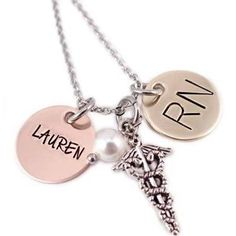 hand stamped jewelry for nurses - Google Search