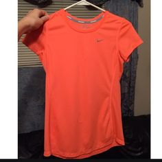 Neon Orange Nike Tee worn once Nike Tops