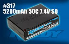 NEW! Reedy 5200mAh 50C 7.4V SQ Competition LiPo Battery