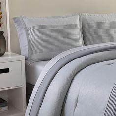Nikki Chu 4 Piece Lyon Comforter Set Queen Includes Bed Skirt  #BeddingSetsCollections