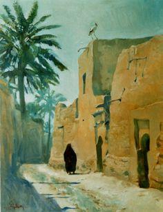 Ein Dorf in Irak vor 100 Jahren-Ölfarben-70X90cm-2003