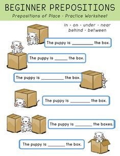 FREE Beginner Prepositions of Place Worksheets English Grammar For Kids, Learning English For Kids, English Worksheets For Kids, English Lessons For Kids, English Activities, English Language Learning, Teaching English, French Lessons, Spanish Lessons