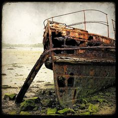 Sale 20% off - Epave de Bateau 04 - 8x8 Fine Art Print - Forgotten Ships - Boat Wreck Landscape Photography - Etsy Wall Art - TFTeam on Etsy, $21.86 AUD