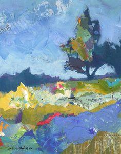 Juniper Trees Original Painting by Shelli Walters.