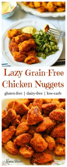 Lazy Grain-Free Chicken Nuggets with simplified steps so you can take it a little easier in the kitchen while serving this family favorite! Dairy-Free THM-S