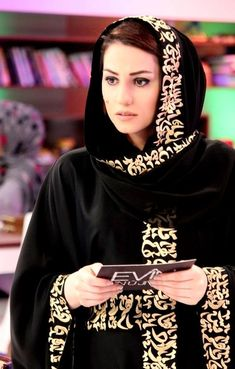 8792ebb592 Love this abaya with the arabic calligraphy embroidery