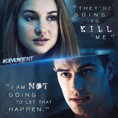 Yay Divergent Trailer. OH MY. Beautiful. Especially Tris and Four. Ahhh I love when they say this in the trailer. Tris (played by Shailene Woodley) and Four (played by Theo James... Freaking Amazing, Perfect in his role)