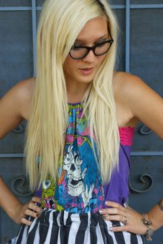 diy halter top/bandeau + poverty luxe skirt