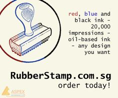 Order your personalize rubber stamp today! http://www.rubberstamp.com.sg/