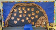 Making a Bear Cave in Preschool