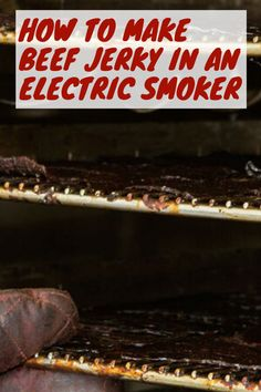 How to Make Beef Jerky in an Electric Smoker - Beef Jerky Hub Smoker Beef Jerky Recipe, Deer Jerky Recipe, Making Beef Jerky, Jerky Marinade, Smoked Beef Jerky, Best Beef Jerky, Homemade Beef Jerky, Smoked Meat Recipes, Recipe Marinade