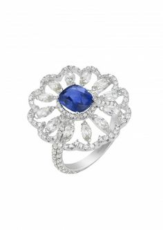 A magnificient Sapphire and Diamond Ring from Chopard's Red Carpet Collection.