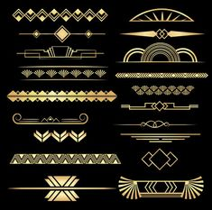 Art Deco Dividers Black and Gold, 20 PNGs, Commercial Use - # Check more at ar. - Art Deco Dividers Black and Gold, 20 PNGs, Commercial Use – # Check more at artdeko. A digital Marketing and advertising Defined Art Deco Borders, Motif Art Deco, Art Deco Design, Design Design, Wallpaper Art Deco, Art Deco Artwork, Arte Art Deco, Estilo Art Deco, 1920s Art Deco